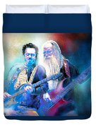 Steve Lukather And Leland Sklar From Toto 02 Duvet Cover