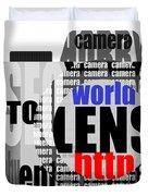 Still Camera From Words Duvet Cover