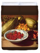 Still Life Of Cherries - Marrows And Pears Duvet Cover