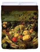 Still Life Of Fruits And Vegetables Duvet Cover