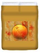 Still Life Orange Abstract Duvet Cover