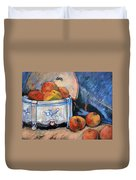 Still Life Peaches Duvet Cover