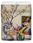 Still Life With Flowers In A Vase   Duvet Cover