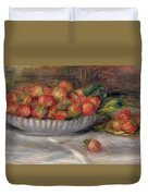 Still Life With Strawberries Duvet Cover
