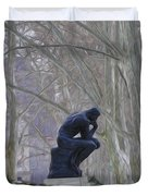Still Thinking Duvet Cover by Bill Cannon