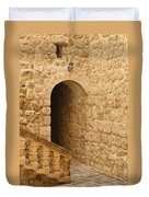 Stone Arch And Stairway Duvet Cover