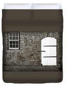 Stone Barn Window Cathedral Door Duvet Cover