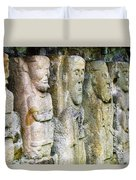 Stone Carving Figures Duvet Cover
