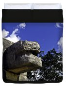 Stone Face Duvet Cover