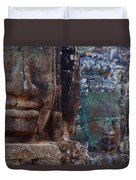 Stone Heads At Bayon Temple Duvet Cover