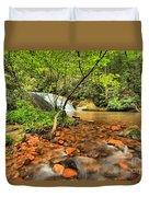 Stone Mountain Lower Falls Duvet Cover