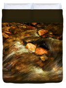 Stone Mountain River Rocks Duvet Cover