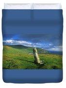 Stone On A Landscape, Ogham Stone Duvet Cover