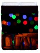 Stonehenge In Starry Night Duvet Cover