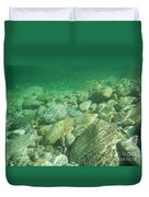 Stones Under The Water Duvet Cover