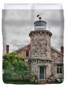 Stonington Lighthouse Museum Duvet Cover