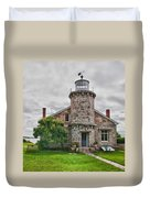 Stonington Lighthouse Museum Duvet Cover
