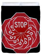 Stop Sign Kalidescope Duvet Cover