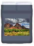 Storm Brewing In Desert Duvet Cover