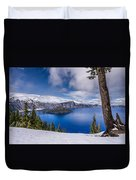 Storm Clearing At Crater Lake Duvet Cover