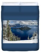 Storm Clearing At Discovery Point Duvet Cover