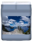 Storm Clearing From Discovery Point Duvet Cover