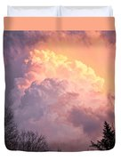 Storm Cloud Moving In On West Michigan Duvet Cover