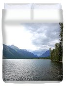 Storm Clouds Over Lake Mcdonald Duvet Cover