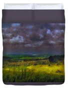 Storm Clouds Over Meadow Duvet Cover