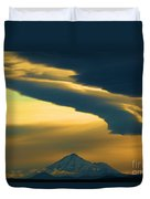 Storm Over Shasta Duvet Cover