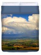 Storm Over The Kittitas Valley Duvet Cover