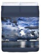 Storm Over The Ocean Duvet Cover