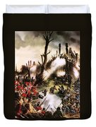 Storming Of Maori Fort  Duvet Cover