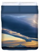 Storms Over Shasta Duvet Cover