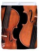 Stradivarius Violin And Maggini Viola Duvet Cover