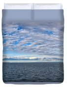 Straights Of Mackinac Duvet Cover