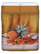 Strawberries And Pineapple Duvet Cover