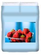 Strawberries In A Plastic Sale Box  Duvet Cover