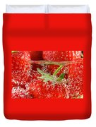 Strawberries In Water Close Up Duvet Cover