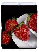 Strawberry Arrangement With A White Bowl No.0036 Duvet Cover