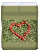Strawberry Heart Duvet Cover