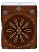 Strawberry Star Pop Art Duvet Cover by Pepita Selles