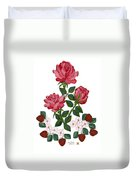 Strawberry Wine And Roses Duvet Cover