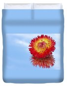 Strawflower Reflection Duvet Cover