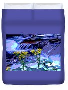 Stream And Flowers Duvet Cover