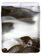 Stream Flowing Over Rocks Duvet Cover