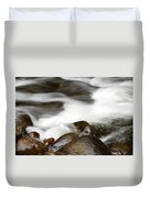Stream Flowing Over Rocks Duvet Cover