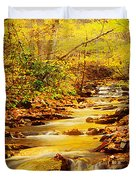 Streams Of Gold Duvet Cover
