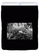 Streched Trees In Black And White Duvet Cover
