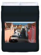Street In Lagoa - Azores Duvet Cover